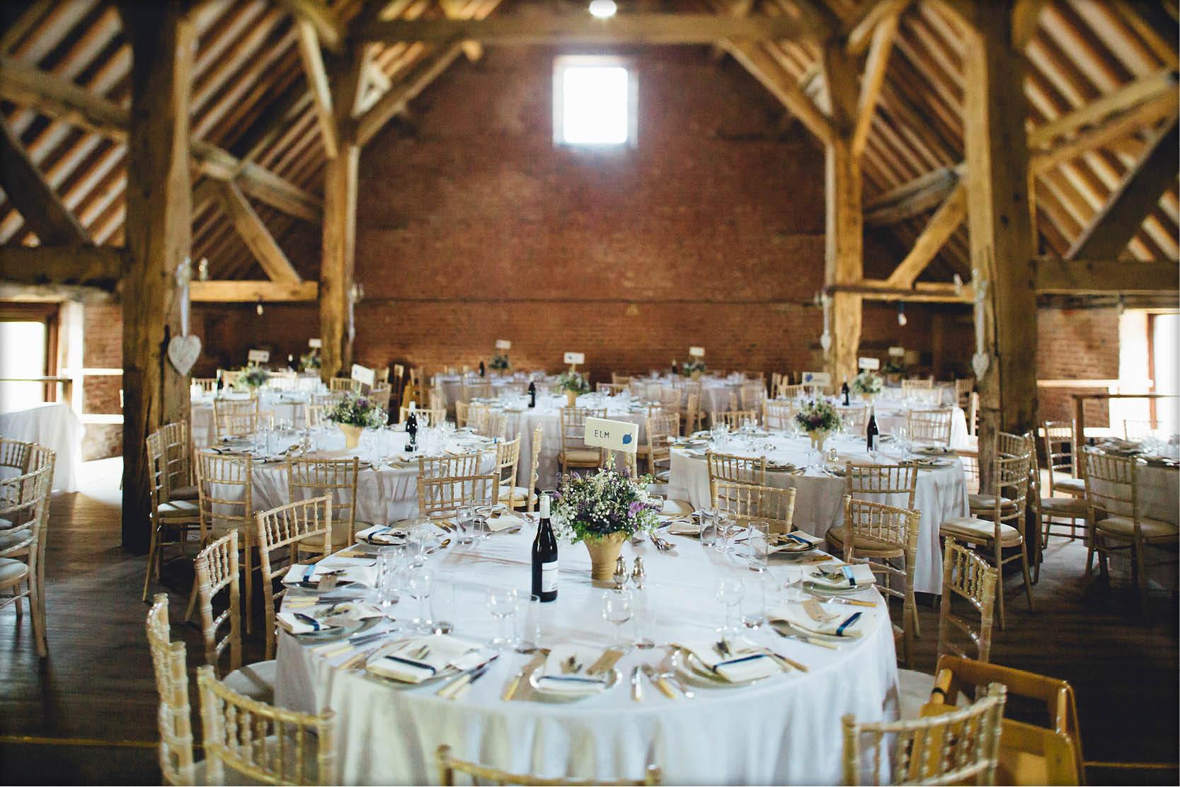 Barford Park Barn Wedding - Reception Layout