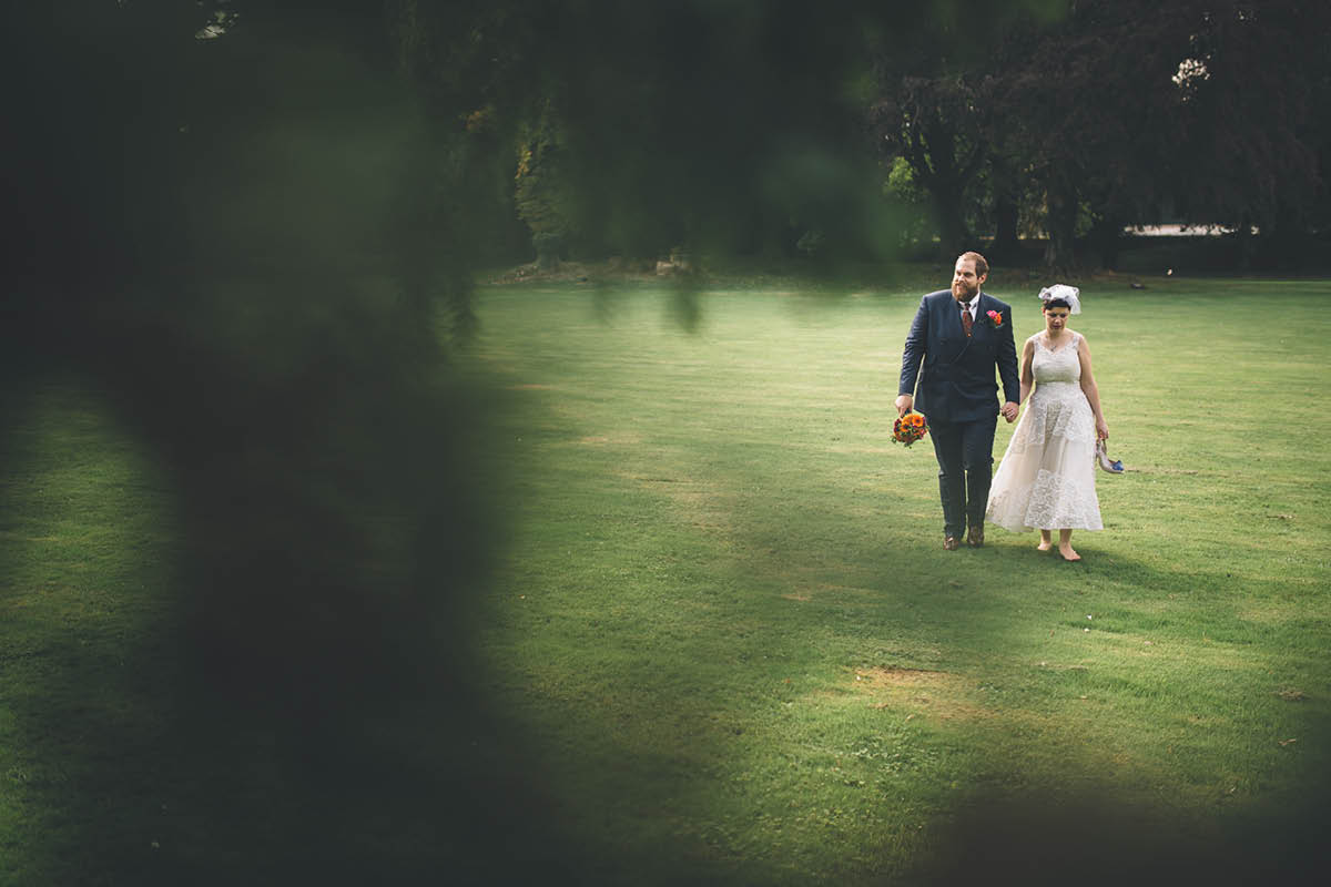 Oakley Hall Wedding - Walking in the Grounds