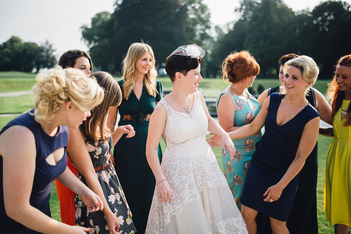 Oakley Hall Wedding - all the girls