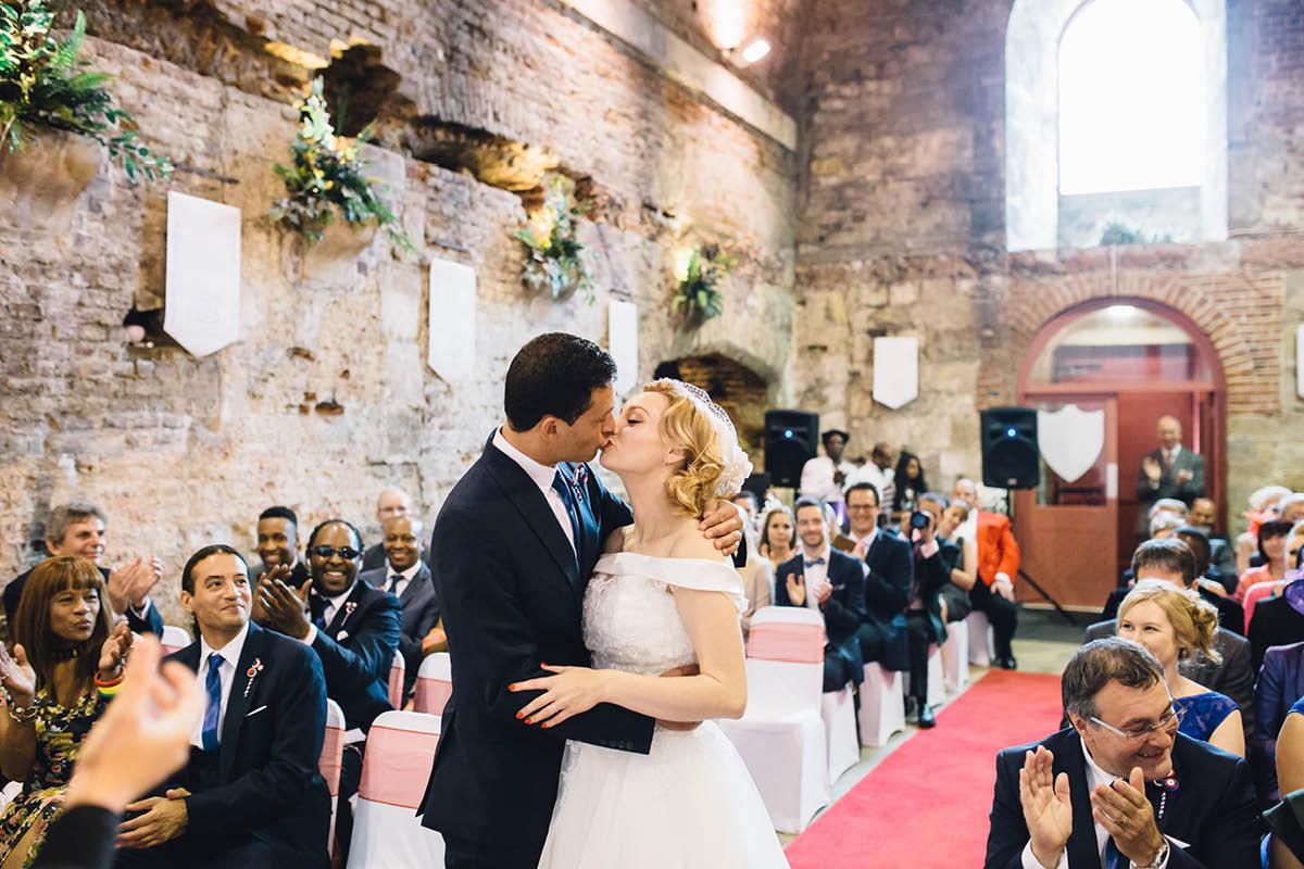 Southsea Wedding Photographer First Kiss