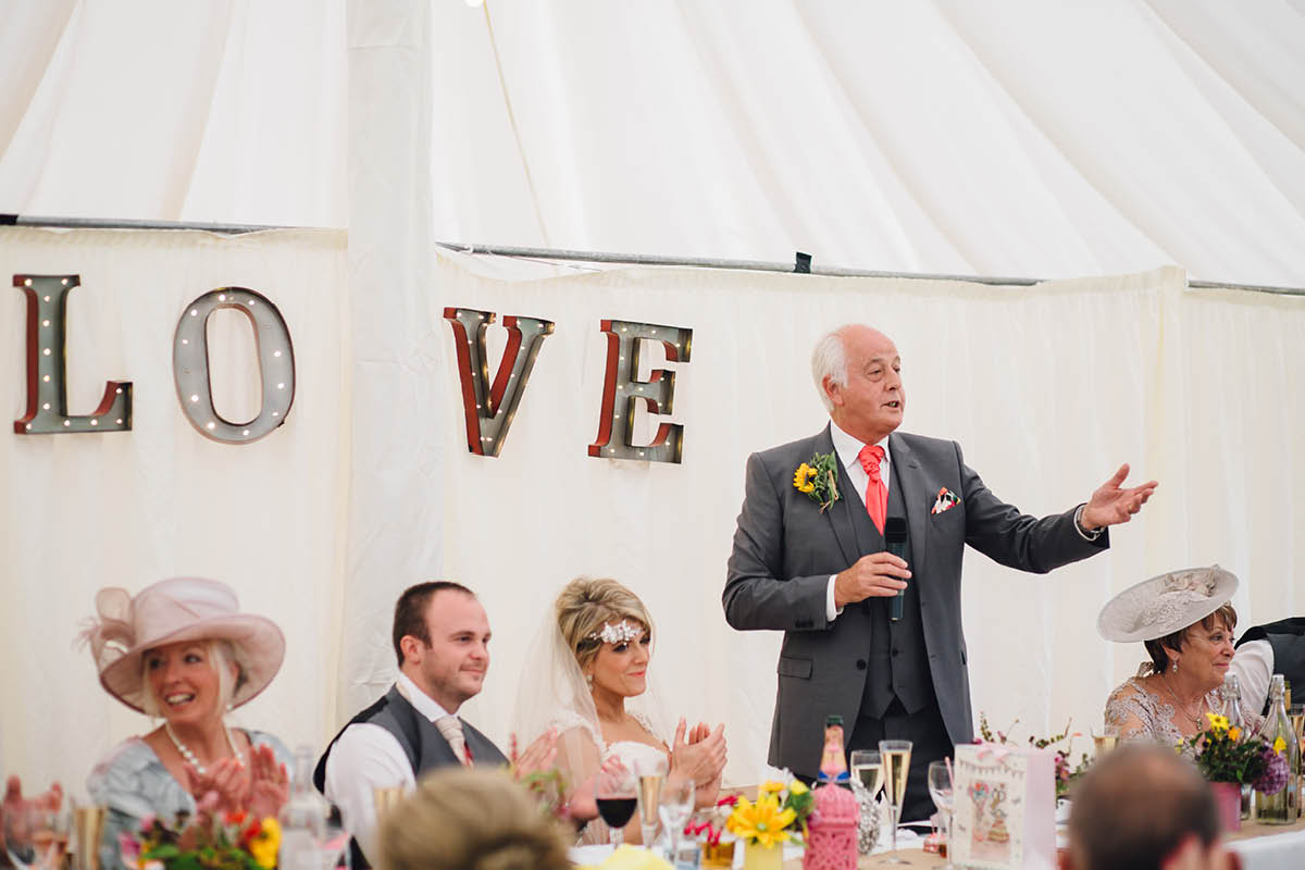 Burley Wedding Photographer - Speeches