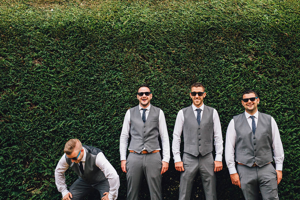Elmers Court Wedding Groomsmen