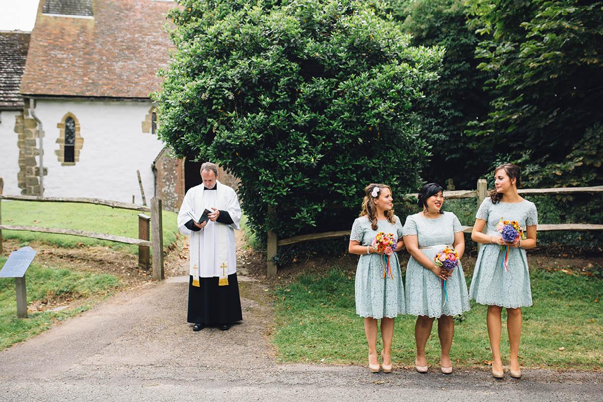 Festival Wedding Photographer - Waiting at the church