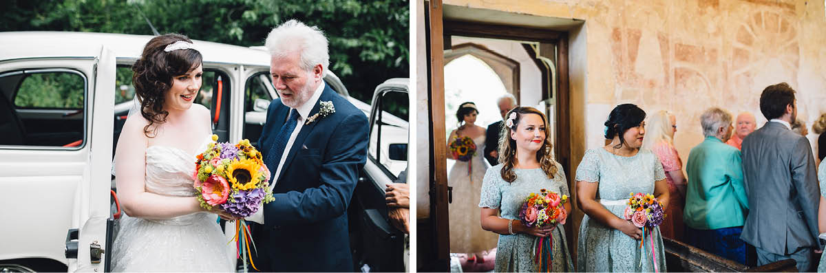 Festival Wedding Photographer - Arriving at the Church