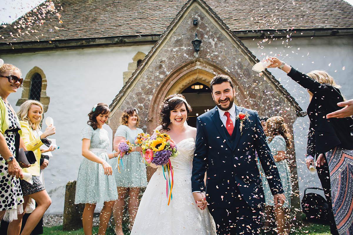 Festival Wedding Photographer - Confetti