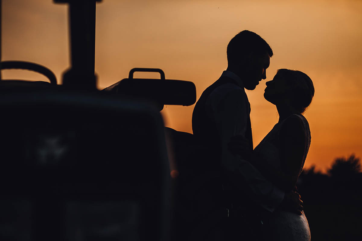 Parley Manor Wedding - Sunset portraits
