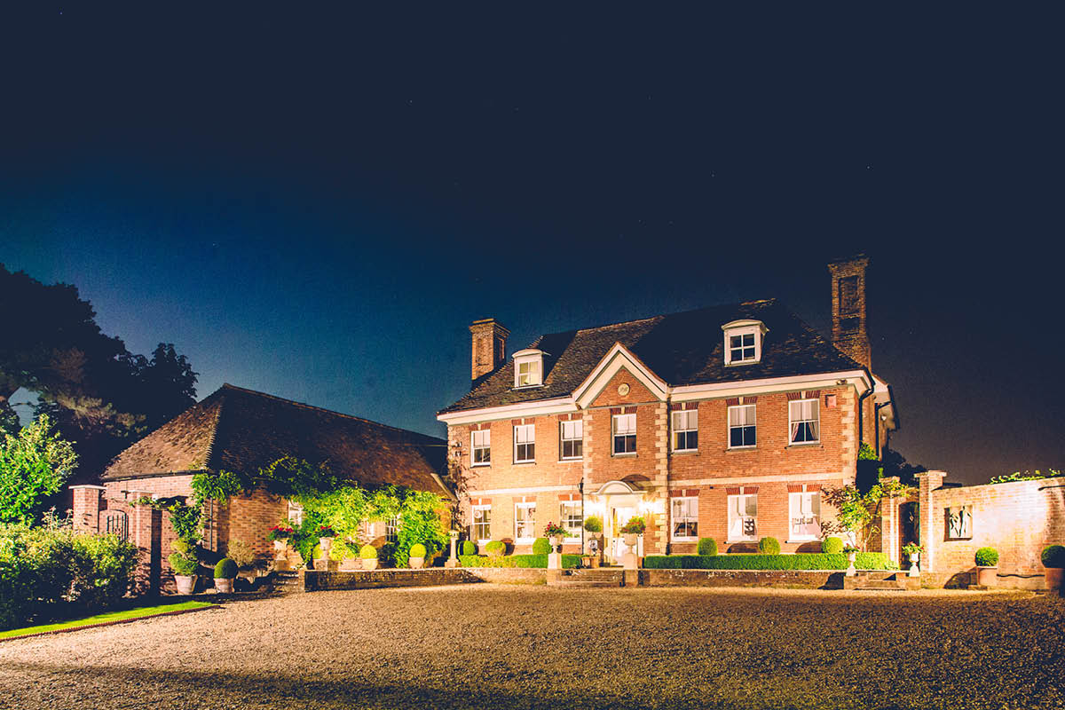 Parley Manor Wedding - Parley Manor at Night