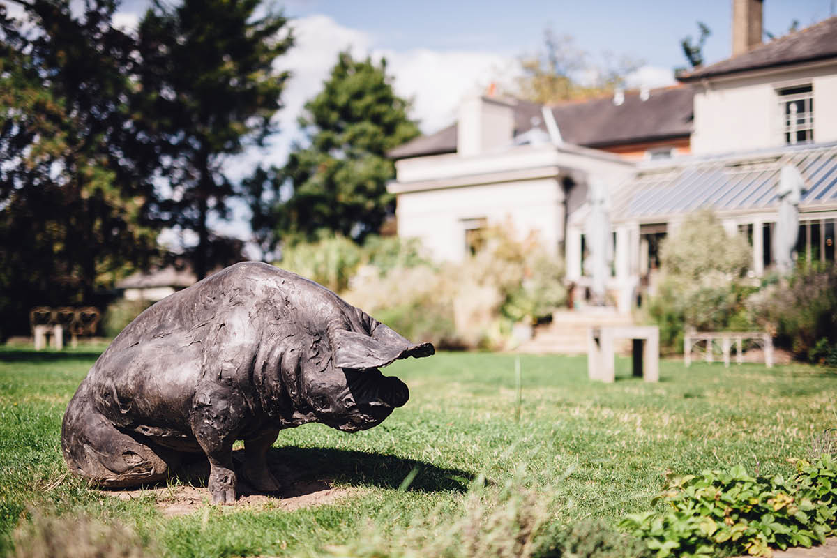 Pig Hotel Brockenhurst Wedding Brass Pig