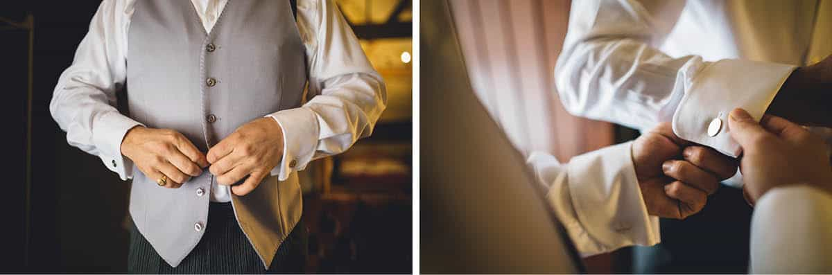 Kingston Country Courtyard Wedding Photographer - Groom Details