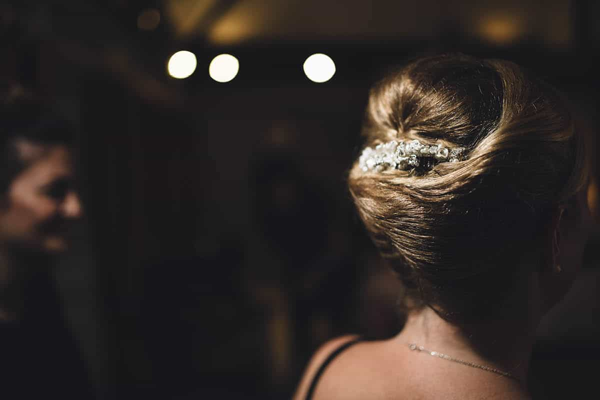 Kingston Country Courtyard Wedding Photographer - Hair Details