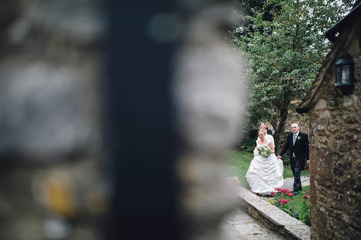 Kingston Country Courtyard Wedding Photographer - on the way to the ceremony