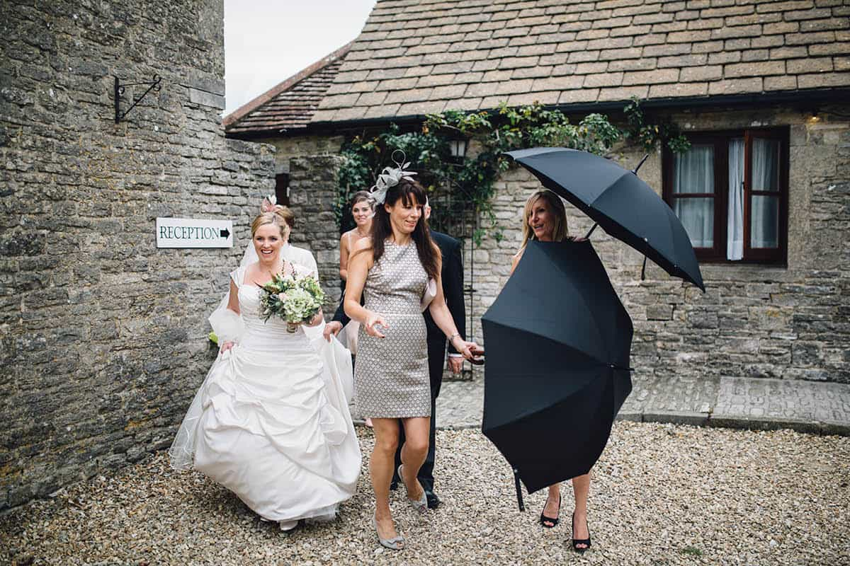 Kingston Country Courtyard Wedding Photographer - Hide the bride