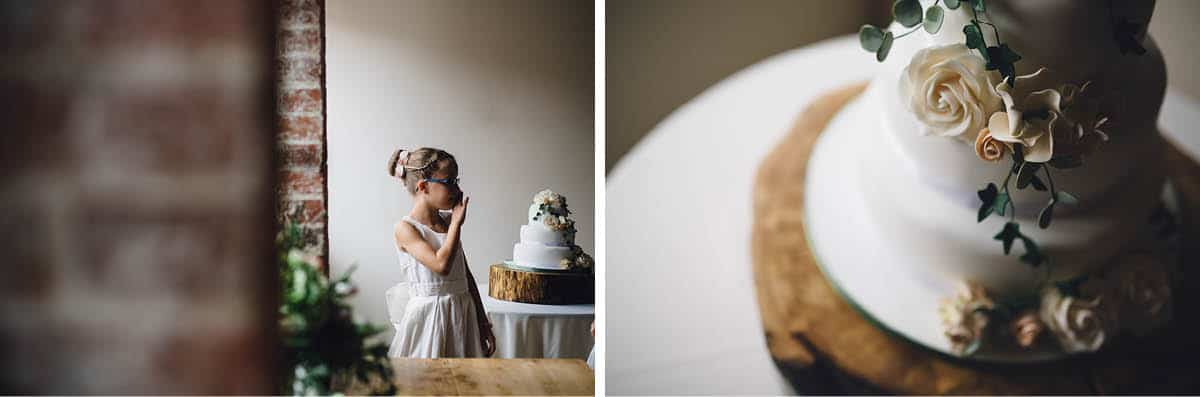 Kingston Country Courtyard Wedding Photographer - Wedding Cake