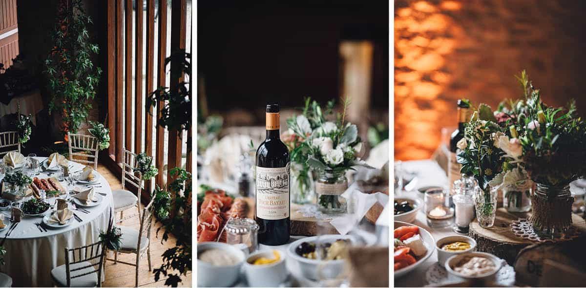 Kingston Country Courtyard Wedding Photographer - Wedding breakfast