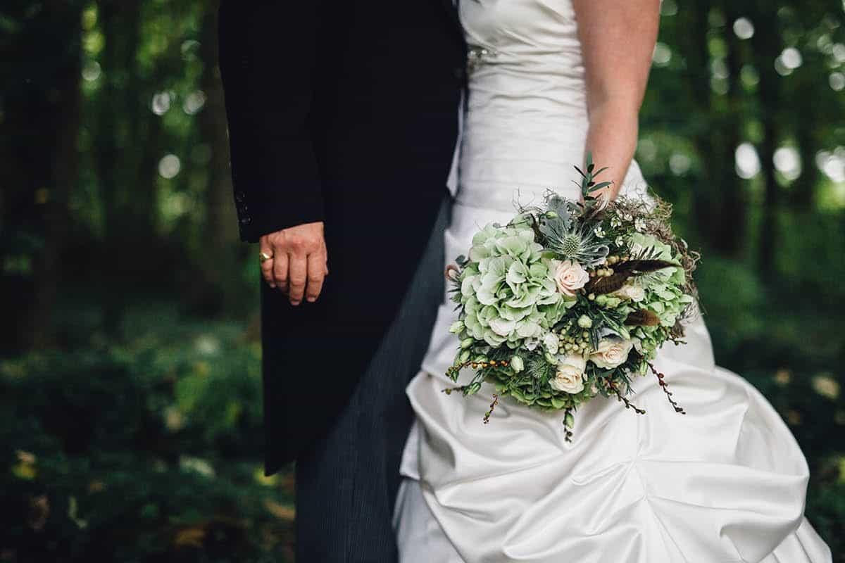 Kingston Country Courtyard Wedding Photographer - Bouquet