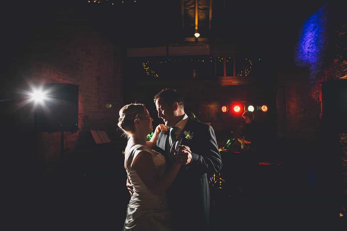 Kingston Country Courtyard Wedding Photographer - First Dance