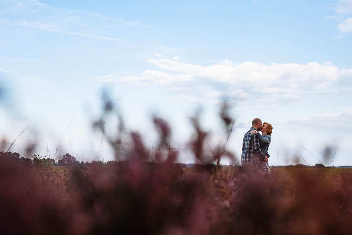 New Forest Engagement Photography - Couple in the Heather