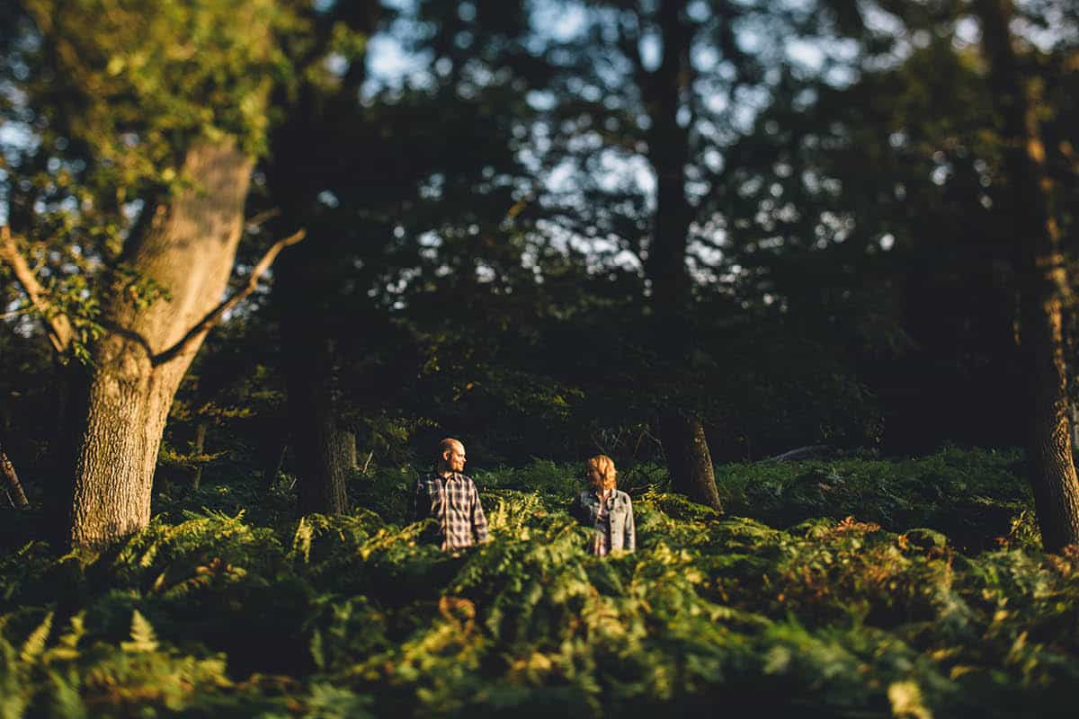 New Forest Engagement Photography - Hiding in the Ferns