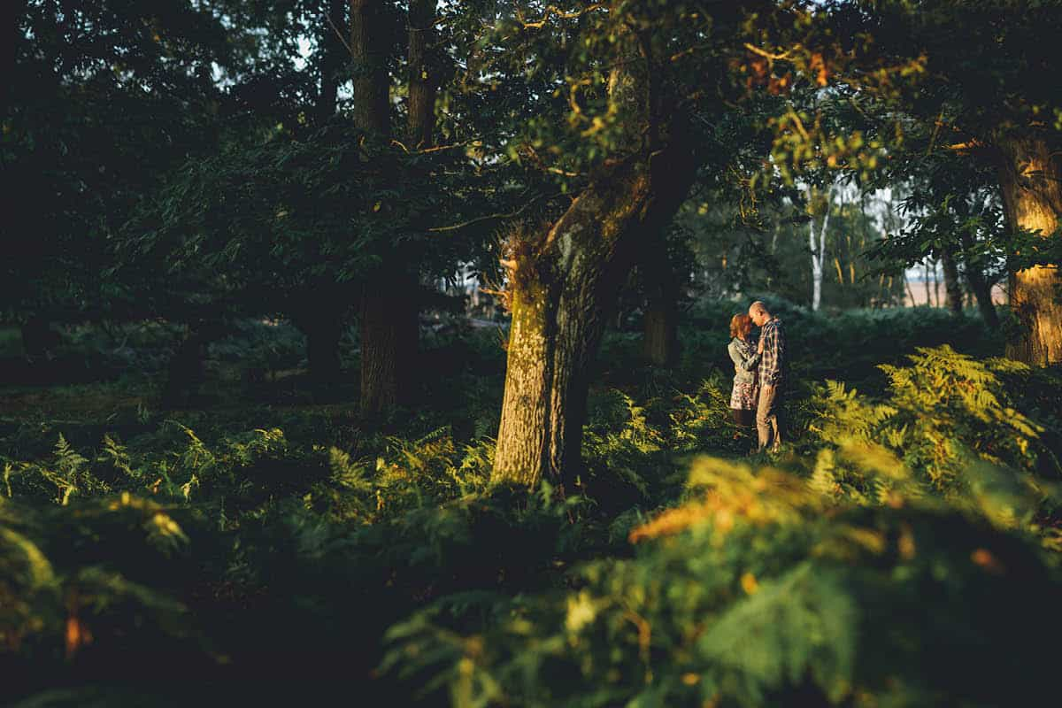 New Forest Engagement Photography - Chasing Light