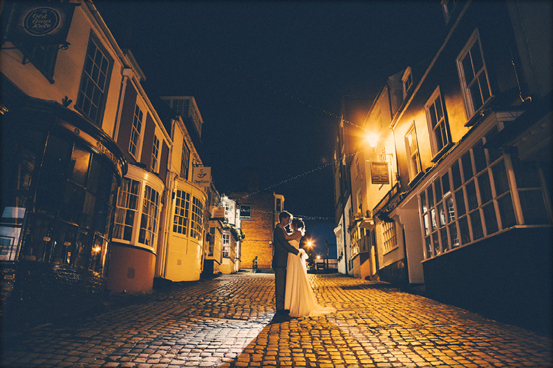 Lymington Cobbles Wedding Portrait