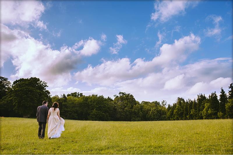 Walking in the fields
