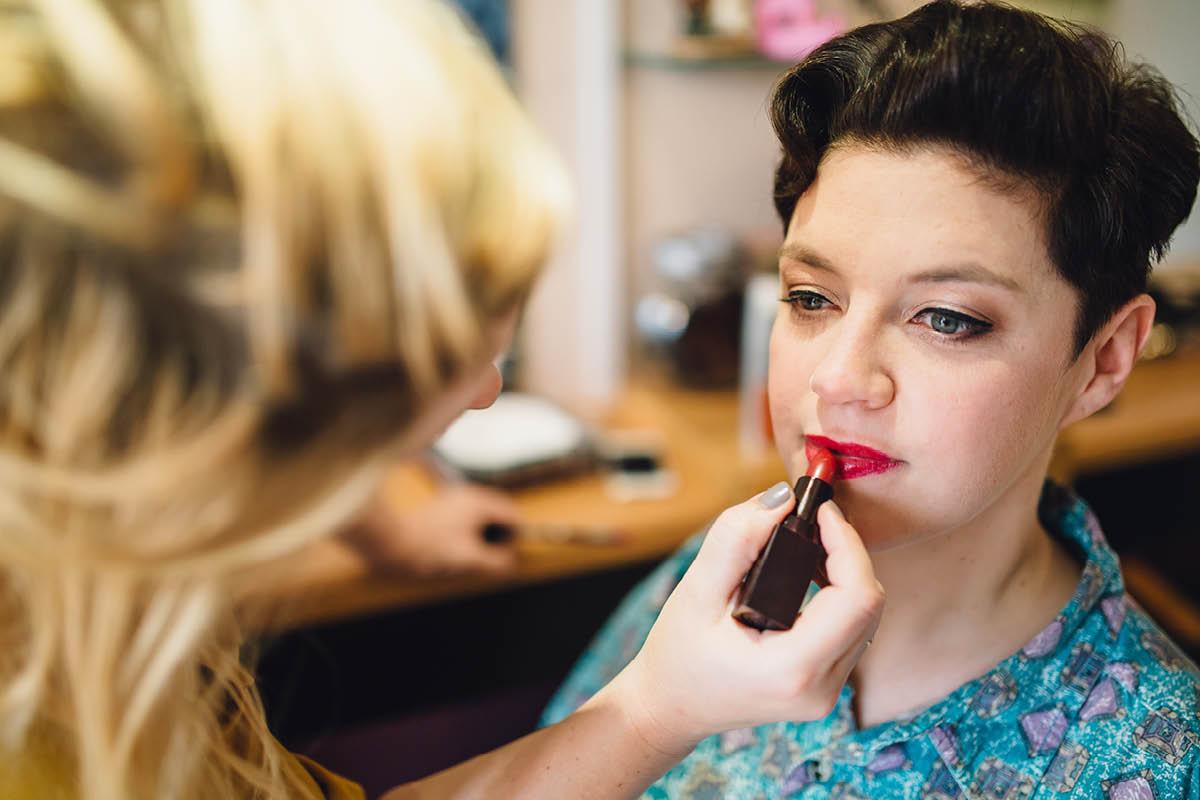 Oakley Hall Wedding - Lipstick