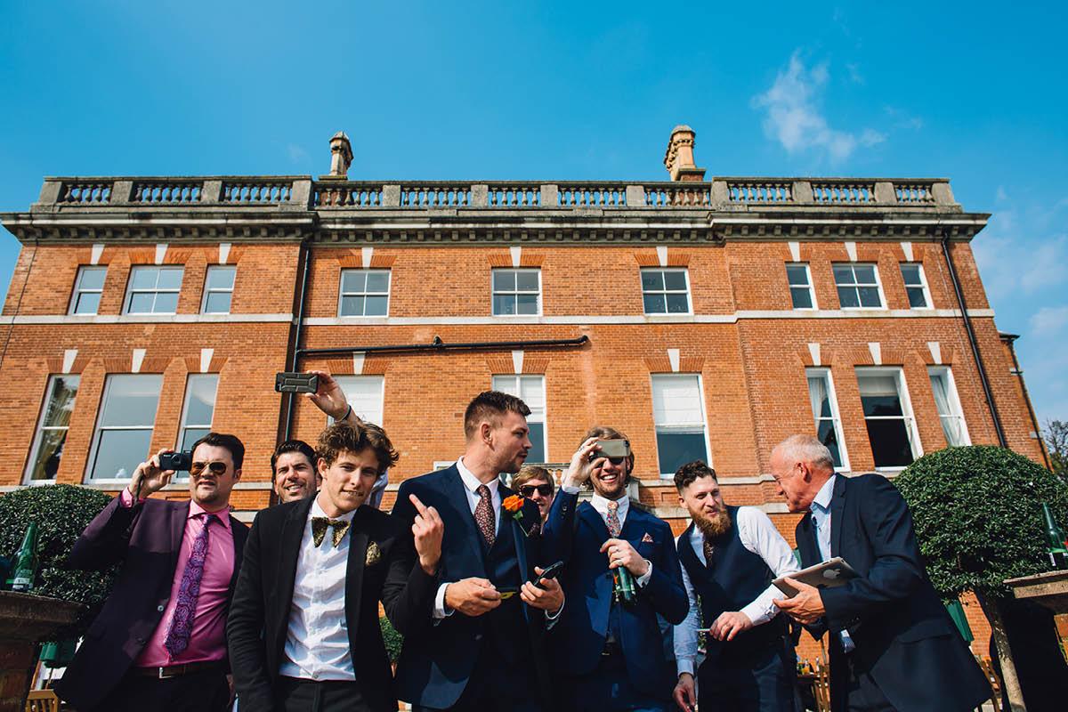 Oakley Hall Wedding - Giving the Birdy