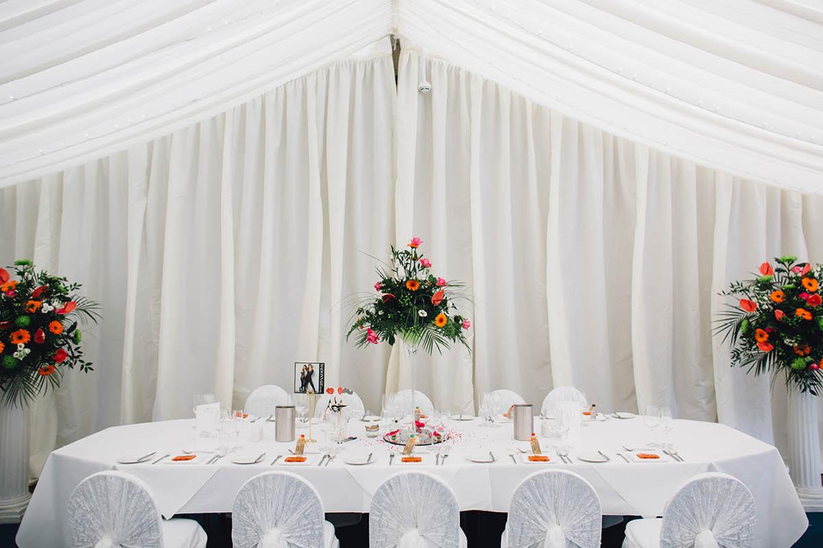 Oakley Hall Wedding - Wedding Breakfast Details