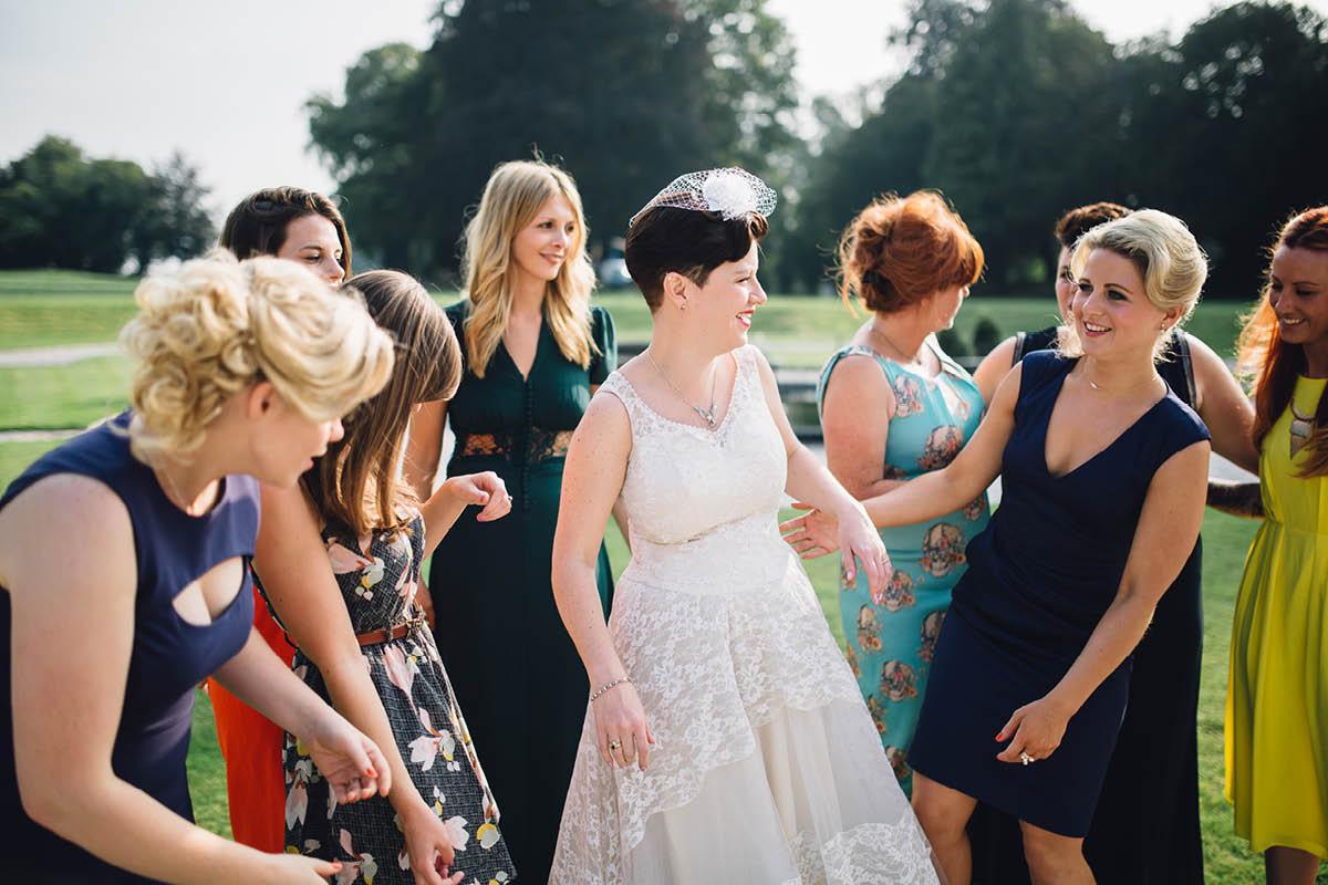 Oakley Hall Wedding - all the girls