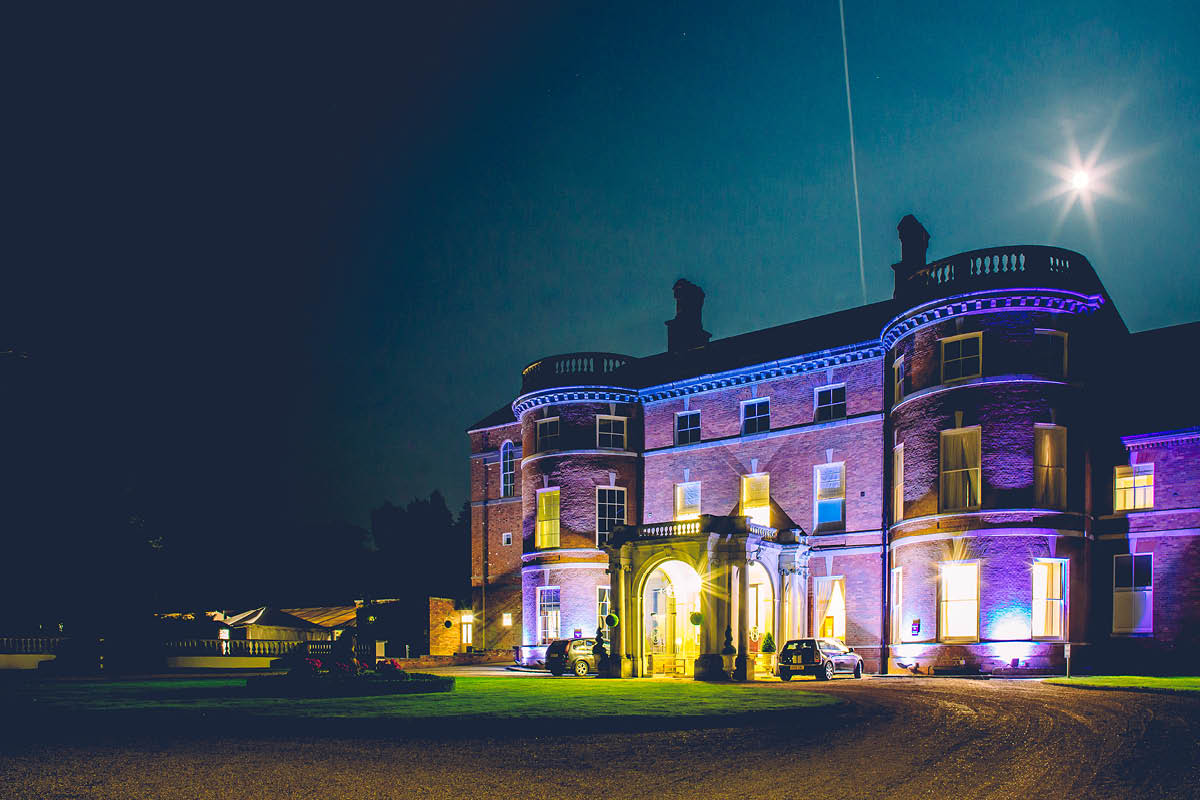 Oakley Hall Wedding Venue at Night