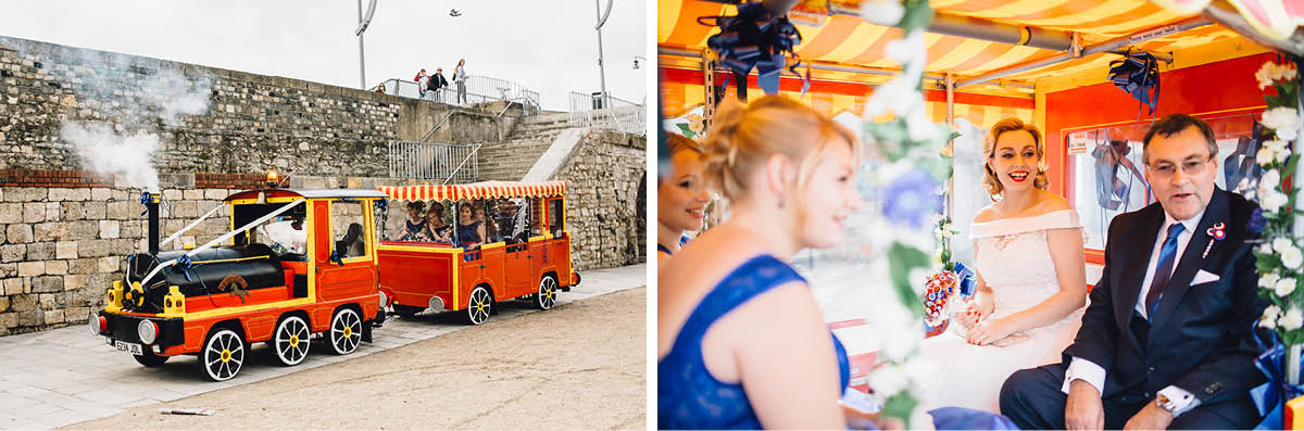 Southsea Wedding Photographer Land Train