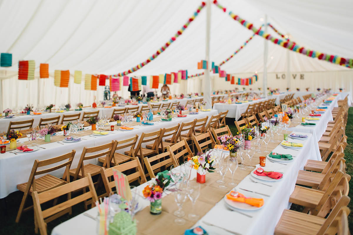Burley Wedding Photographer Marquee Decorations