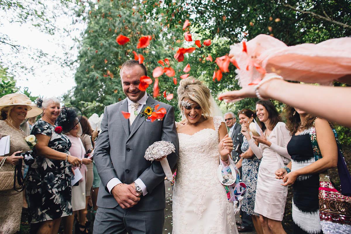 Burley Wedding Photographer Confetti
