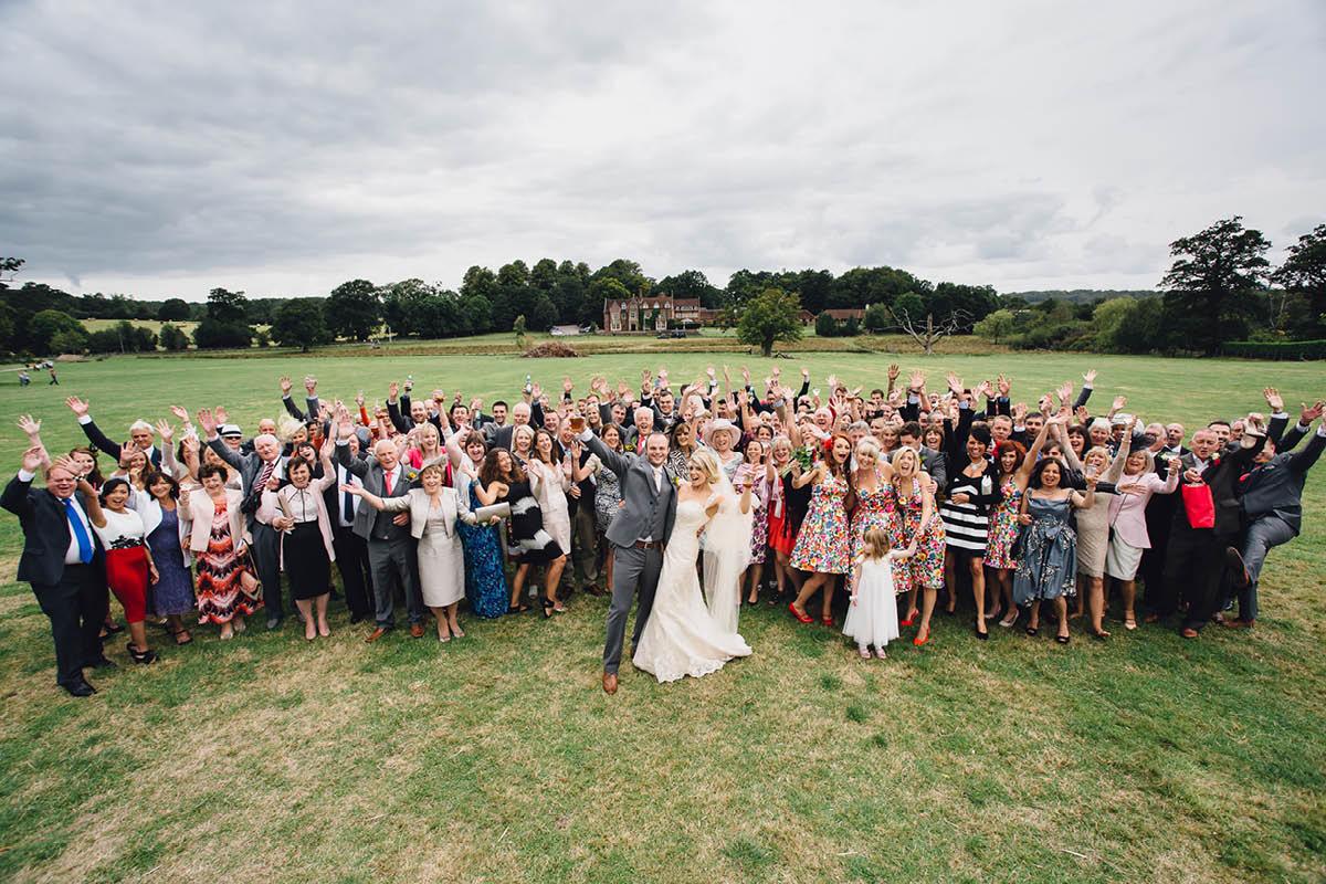 Burley Wedding Photographer - Whole Wedding Party