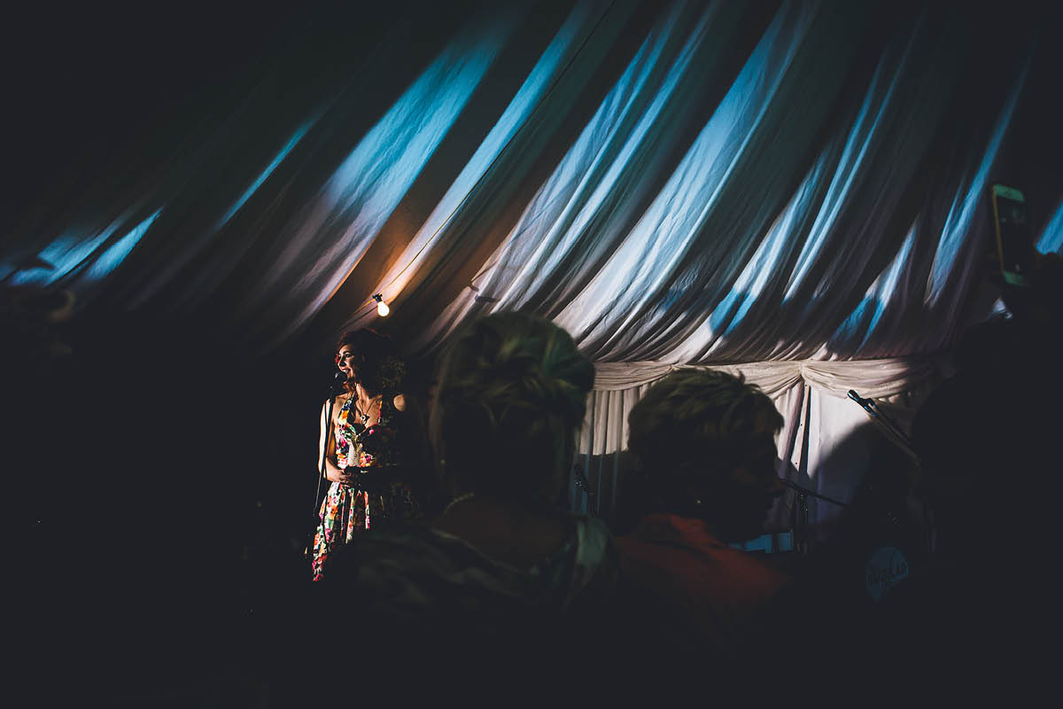 Burley Wedding Photographer - Sister Singing