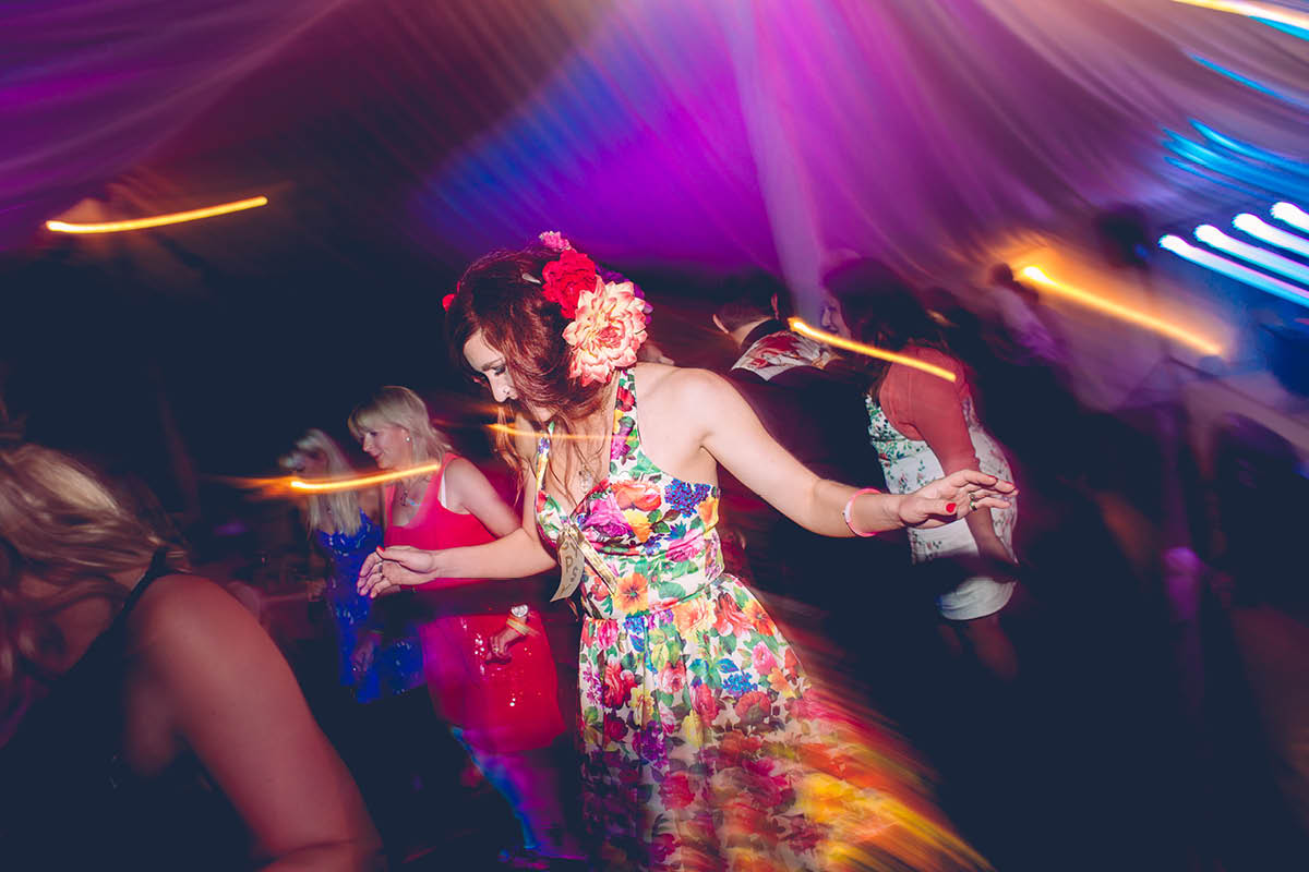 Burley Wedding Photographer - Brides Sister Dancing