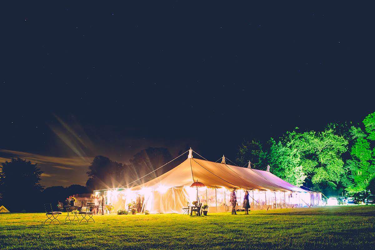Burley Wedding Photographer - Venue at Night