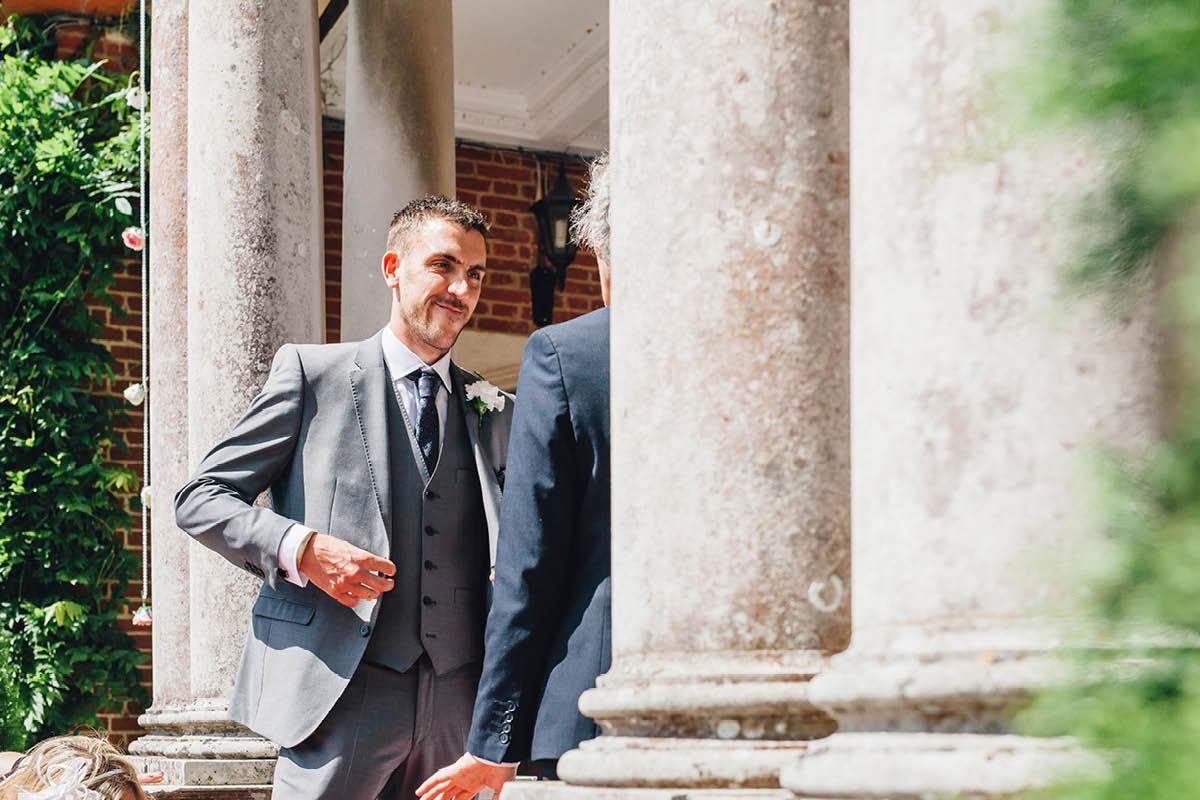 Elmers Court Wedding Nervous Groom