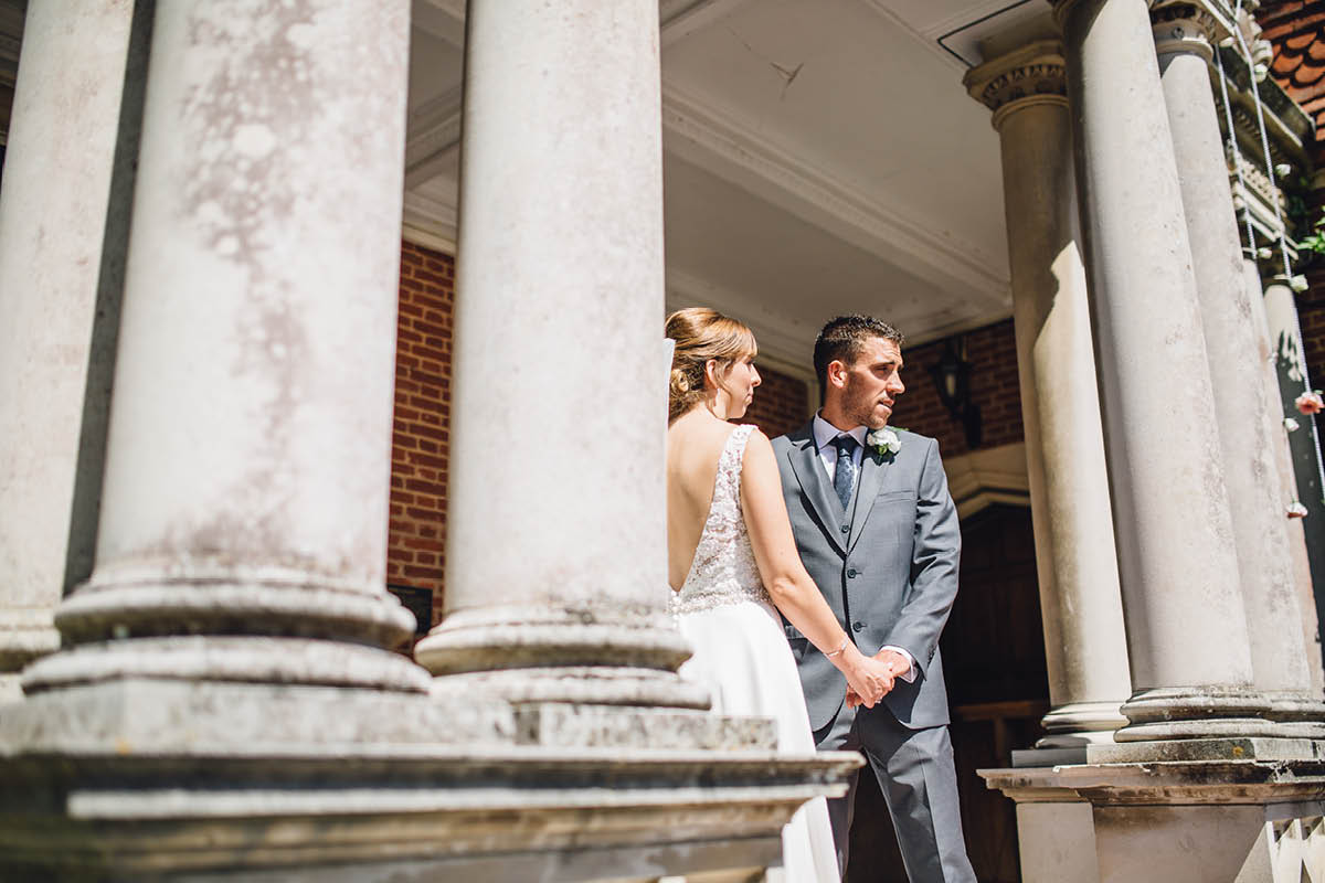 Elmers Court Wedding outside ceremony