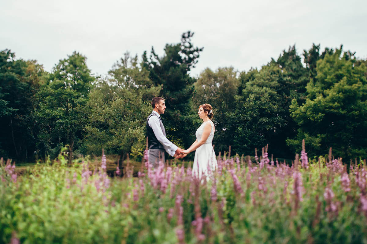 Elmers Court Wedding in the wild flowers