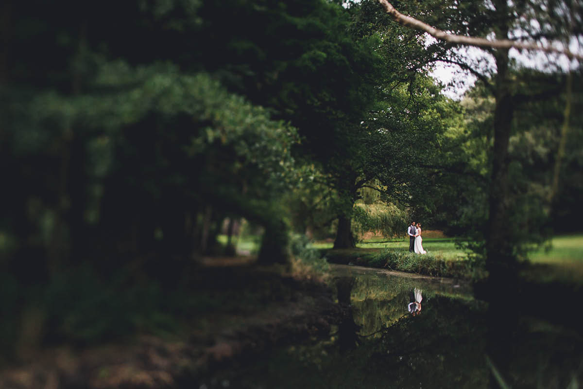 Elmers Court Wedding photography by the lake