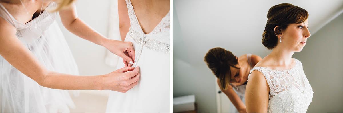 Elmers Court Wedding Bride Getting ready