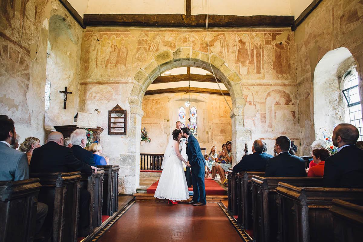 Festival Wedding Photographer - First Kiss