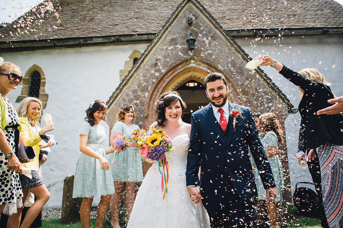 Festival Wedding Photographer - Confetti