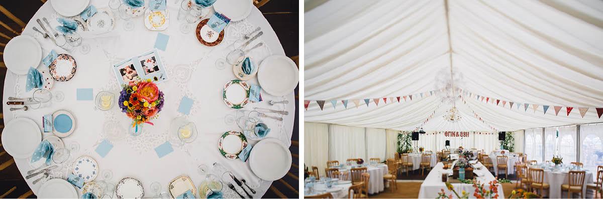 Festival Wedding Photographer - Wedding Breakfast Details