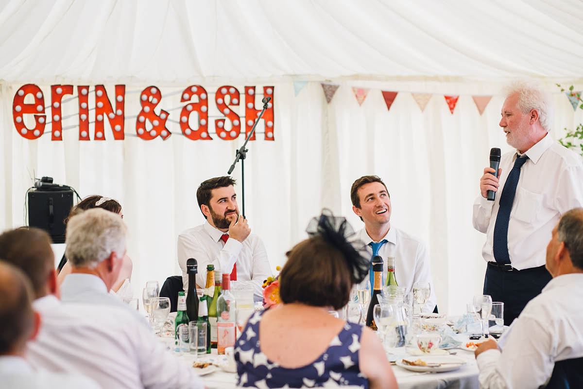 Festival Wedding Photographer - Speeches