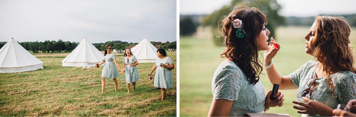 Festival Wedding Photographer - Bridesmaids