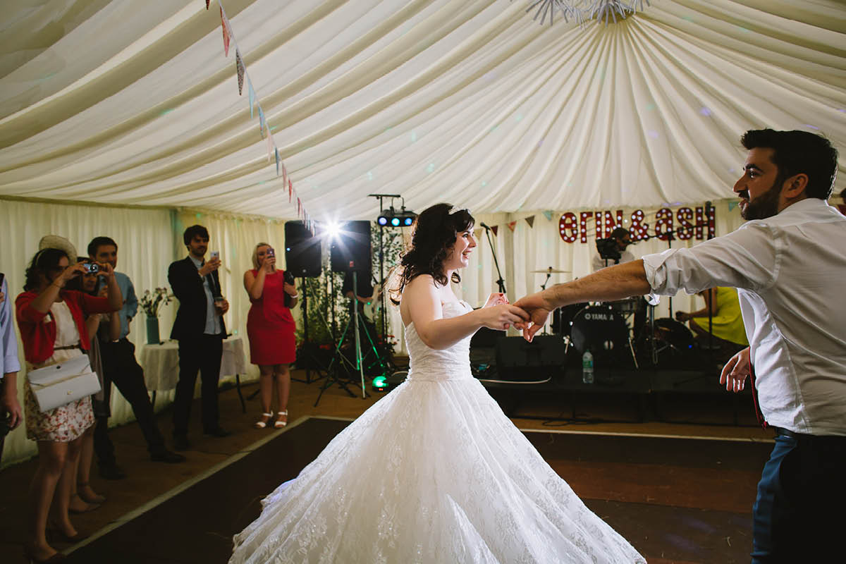 Festival Wedding Photographer - First Dance