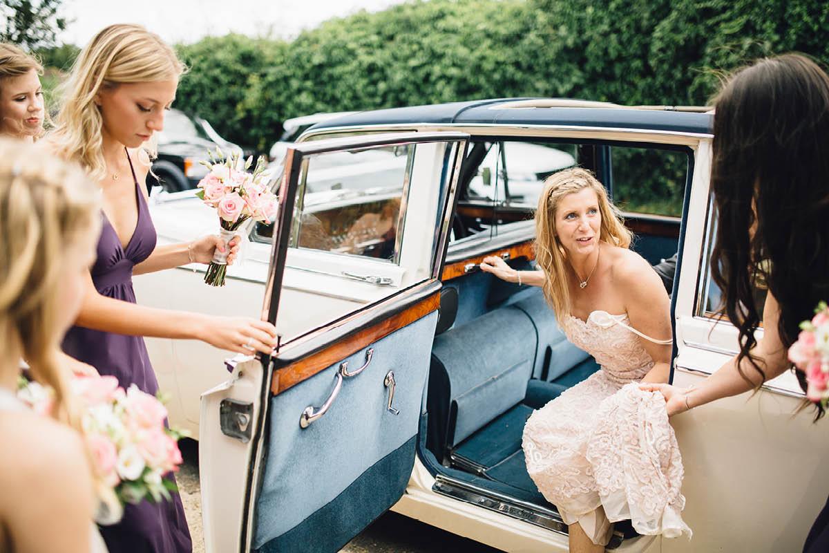 Mill House Hotel Wedding Bride Arriving