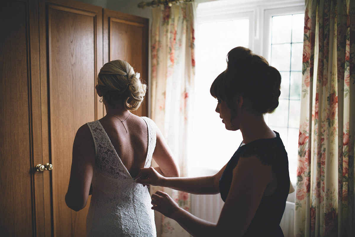 Parley Manor Wedding - Bride with Sister